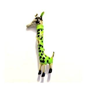 "Vintage Anthropomorphic Giraffe Brooch  2.75"" Tall"